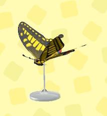 あつ森のアゲハチョウのの模型