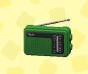あつ森の携帯ラジオのグリーン