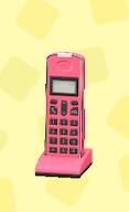 あつ森のコードレス電話のピンク