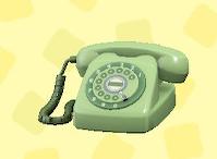あつ森のダイヤル式電話のグリーン