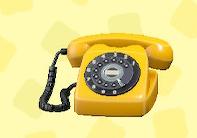 あつ森のダイヤル式電話のイエロー