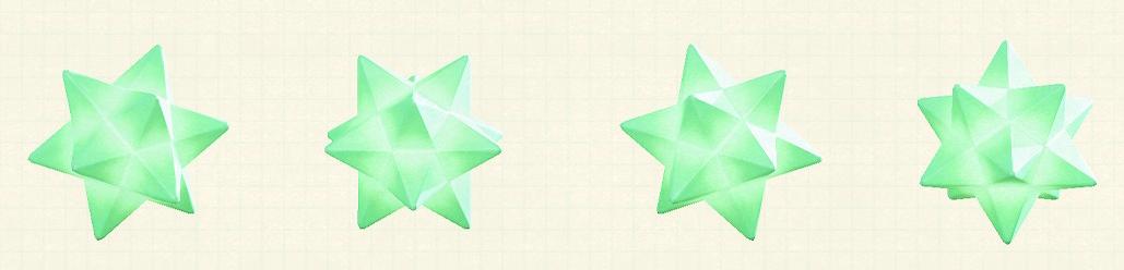 あつ森のスターライトのリメイクグリーンパターン
