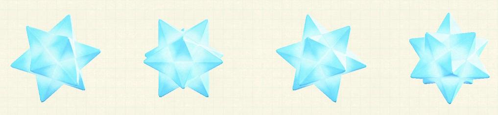 あつ森のスターライトのリメイクブルーパターン