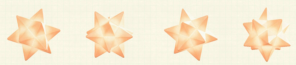 あつ森のスターライトのリメイクオレンジパターン