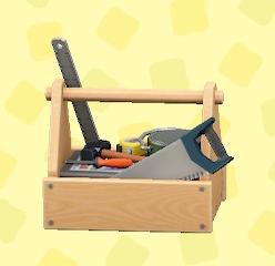あつ森の木製の工具箱のナチュラル