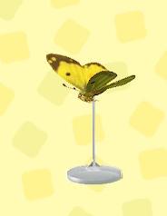 あつ森のモンキチョウの模型