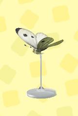 あつ森のモンシロチョウの模型