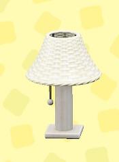 あつ森のラタンのテーブルランプのホワイト
