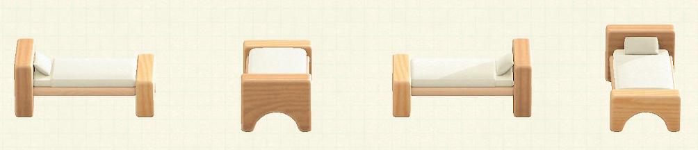 あつ森のつみきベッドのリメイクナチュラルパターン