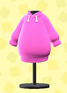 あつ森のパーカーワンピのピンク