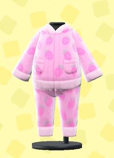 あつ森のフリースパジャマのピンク