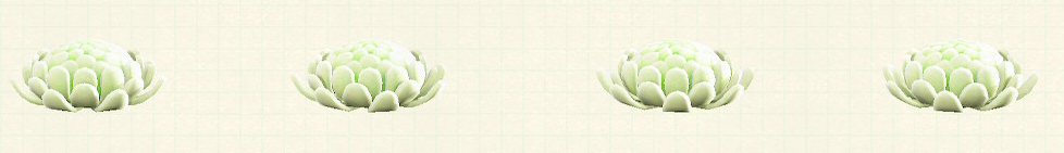 あつ森のキクのクッションのホワイト