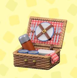 あつ森のピクニックバスケットのレッド