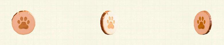 あつ森の肉級のドアプレートのリメイクピンクパターン