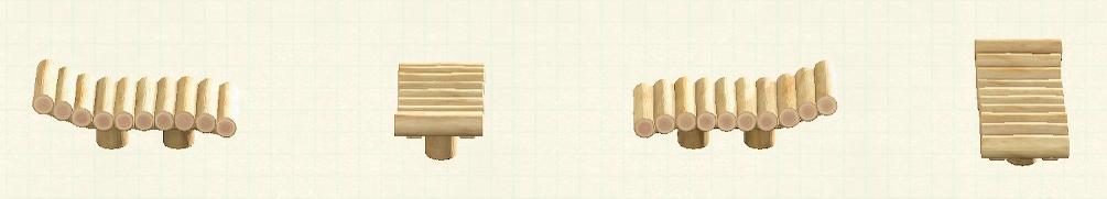 あつ森の丸太のガーデンベッドのリメイクホワイトウッドパターン