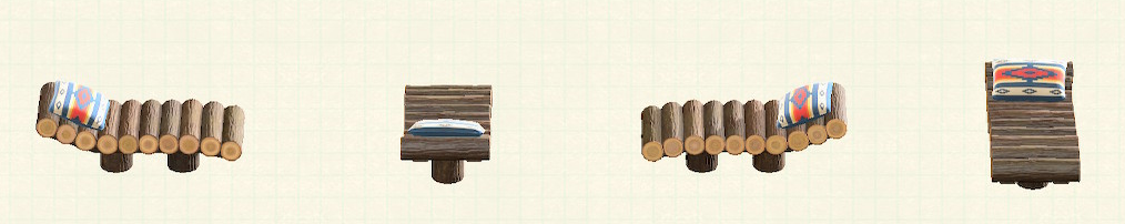 あつ森の丸太のガーデンベッドのリメイクチマヨパターン