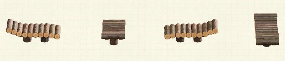 あつ森の丸太のガーデンベッドのリメイクマイデザインパターン
