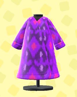 あつ森のウズベクな服のパープル