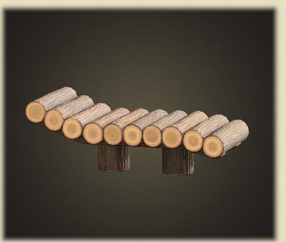 あつ森の丸太のガーデンベッド