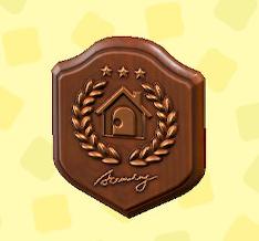 あつ森のアカデミーの銅の盾