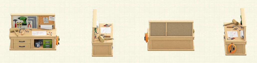 あつ森のDIY作業台のナチュラルパターン