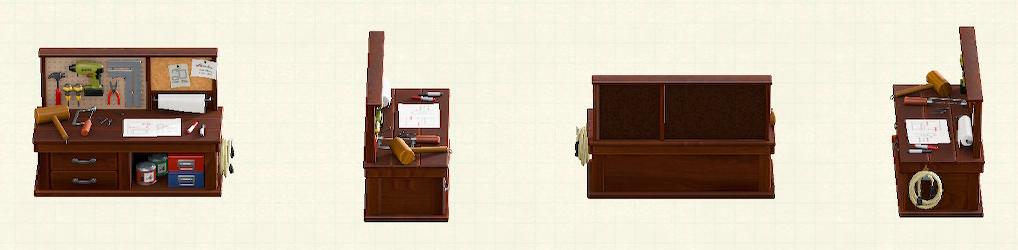 あつ森のDIY作業台のブラウンパターン