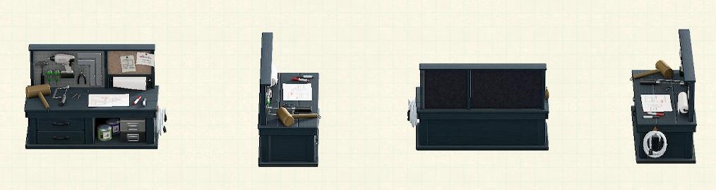 あつ森のDIY作業台のブラックパターン