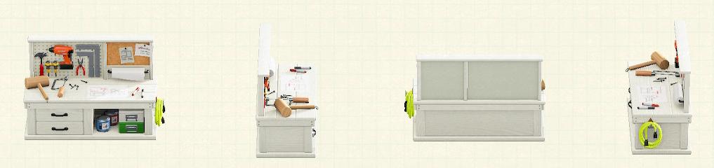 あつ森のDIY作業台のホワイトパターン