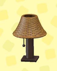 あつ森のラタンのテーブルランプのブラウン