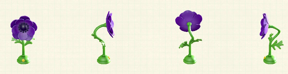 あつ森のアネモネのせんぷうきのリメイクパープルパターン