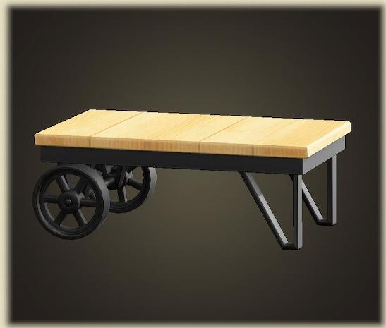 あつ森のアイアンウッドローテーブル