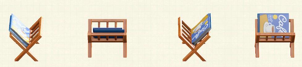あつ森のマガジンラックのリメイクオレンジパターン