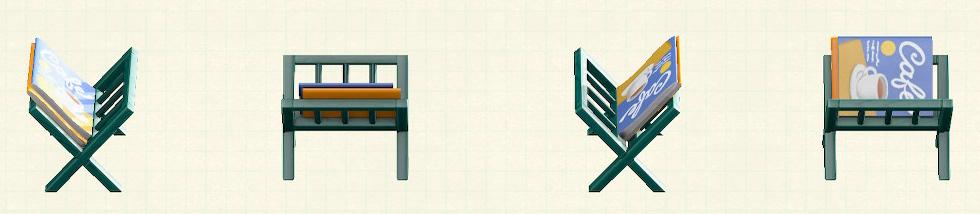あつ森のマガジンラックのリメイクグリーンパターン