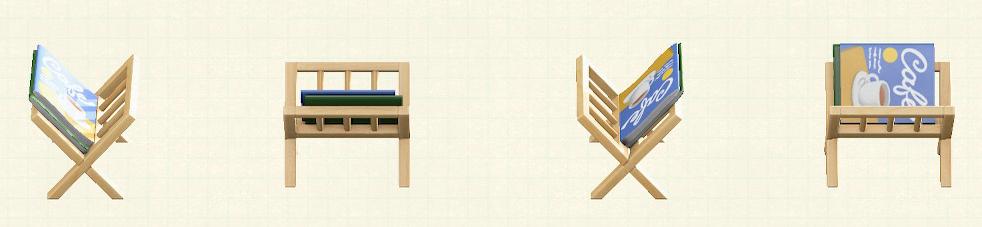 あつ森のマガジンラックのリメイクカフェパターン