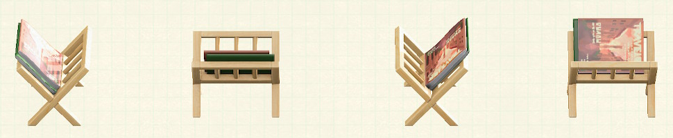 あつ森のマガジンラックのリメイクトラベルパターン