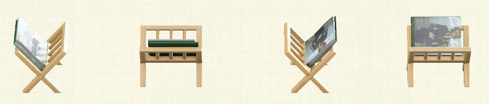 あつ森のマガジンラックのリメイクファッションパターン