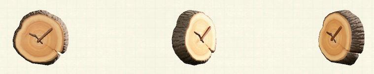 あつ森のまるたのかべかけどけいのリメイクダークウッドパターン