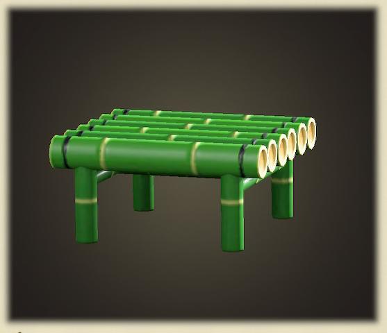 あつ森の竹のスツール