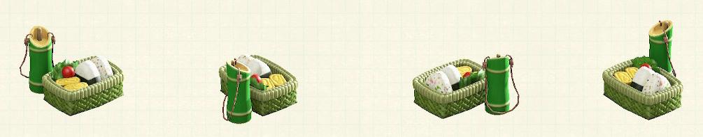 あつ森の竹のべんとうばこのリメイク青竹パターン