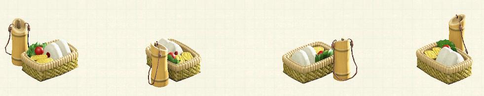 あつ森の竹のべんとうばこのリメイク枯竹パターン