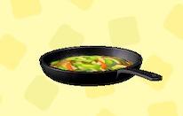 あつ森のフライパンの野菜炒め