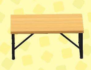 あつ森のアイアンウッドテーブルのバーチ