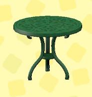 あつ森のアイアンガーデンテーブルのグリーン