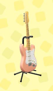 あつ森のエレキギターES1のコーラルピンク