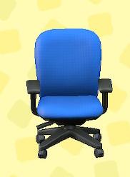 あつ森のオフィスのチェアのブルー