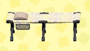あつ森のキャンプベッドのシンプルパターン