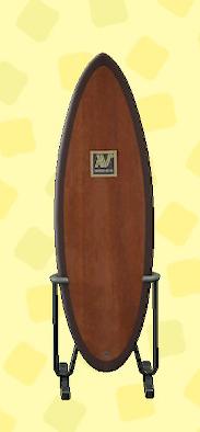 あつ森のサーフボードのブラウン