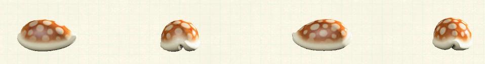 あつ森の貝殻のスツールのリメイクホワイトパターン