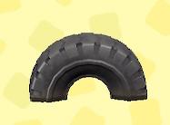 あつ森のタイヤのゆうぐのブラック