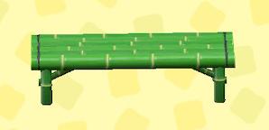 あつ森のたけのベンチの青竹